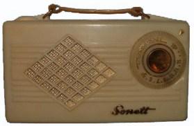 Szonett csöves rádió