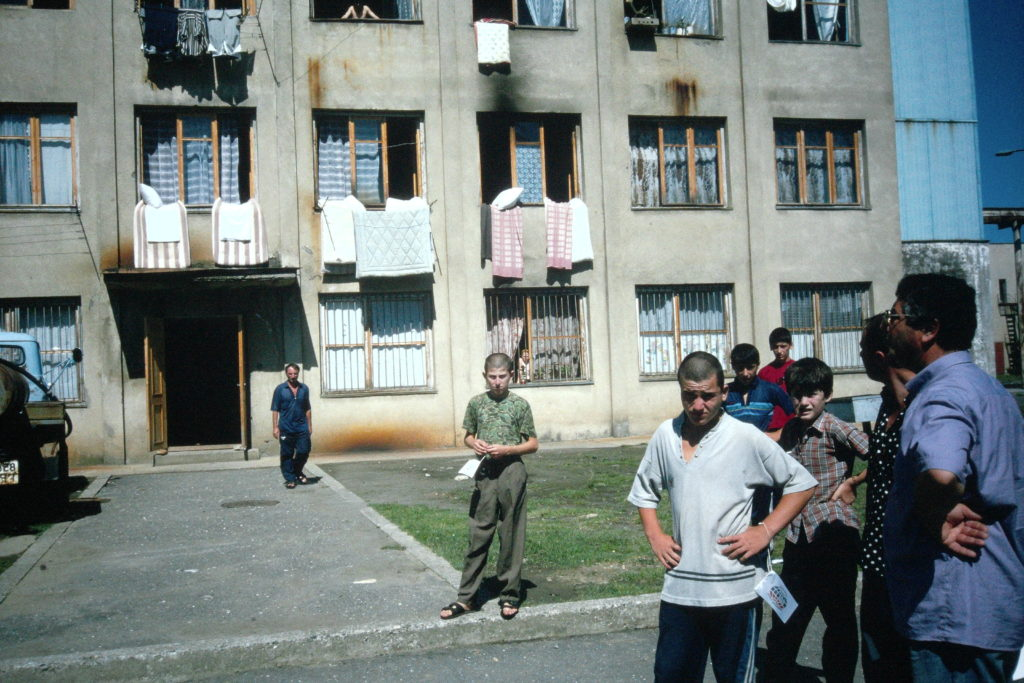 Displaced refugees in Tbilisi