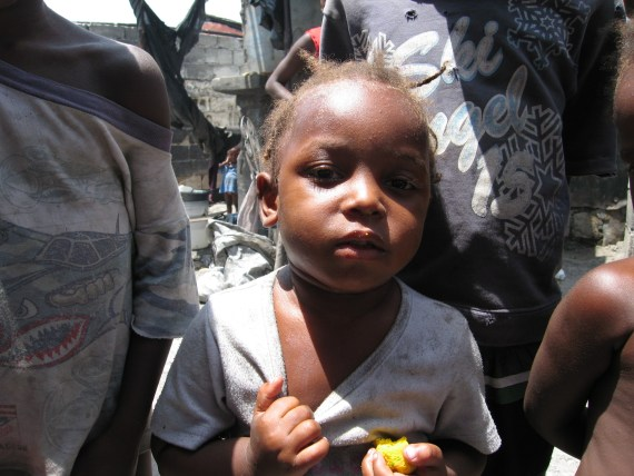 Child in slum in Port-au-Prince