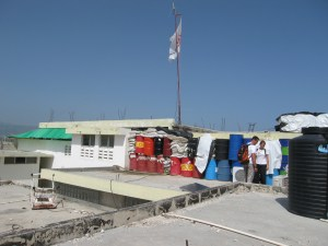 Medical centre flying an MSF flag