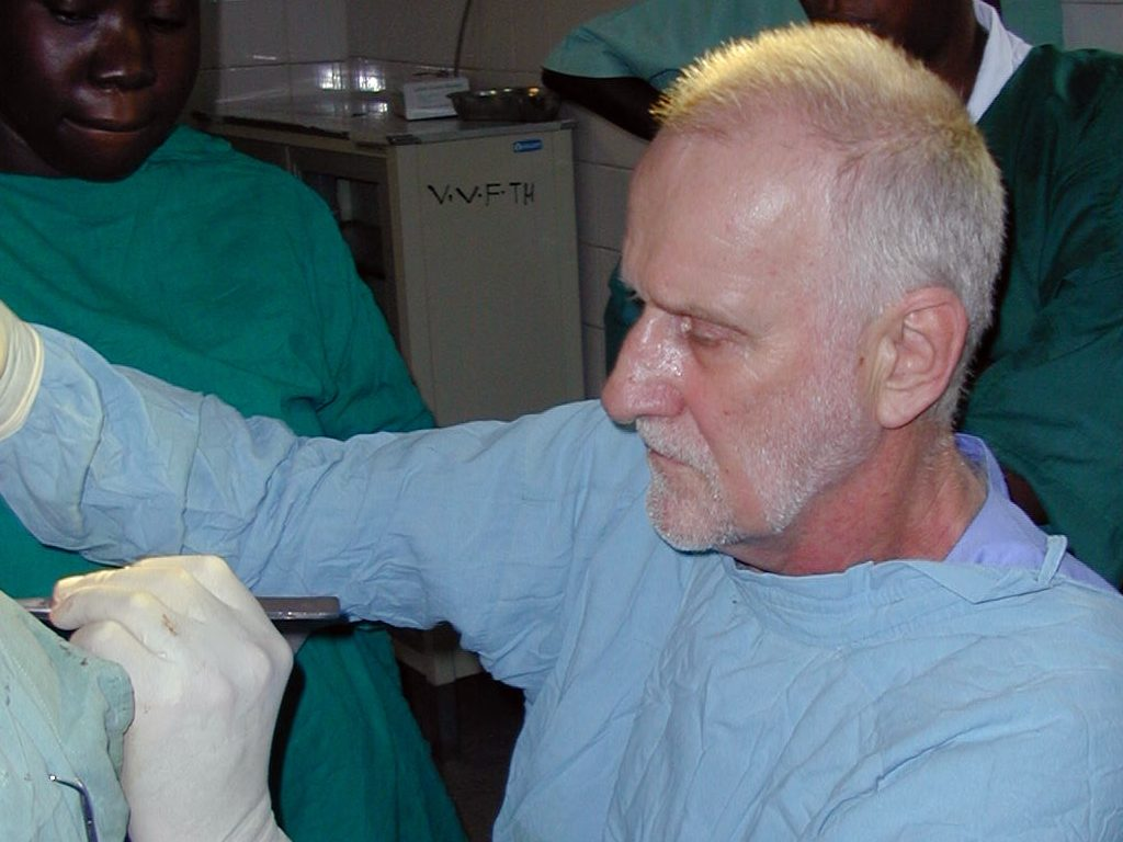 Dr Kees Waaldijk operating