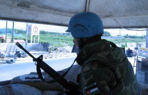 Jordanian peacekeeping soldier