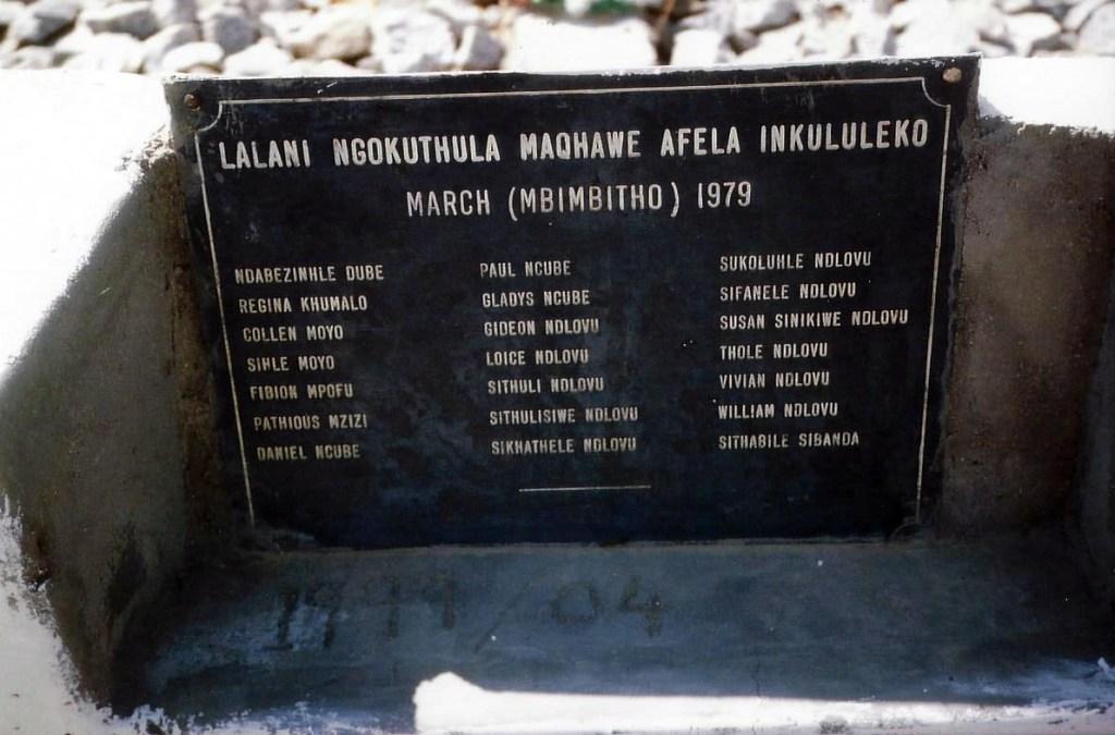 Shrine for school children killed during Gukurhundi
