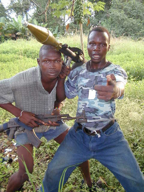 Rebel soldiers in Sierra Leone