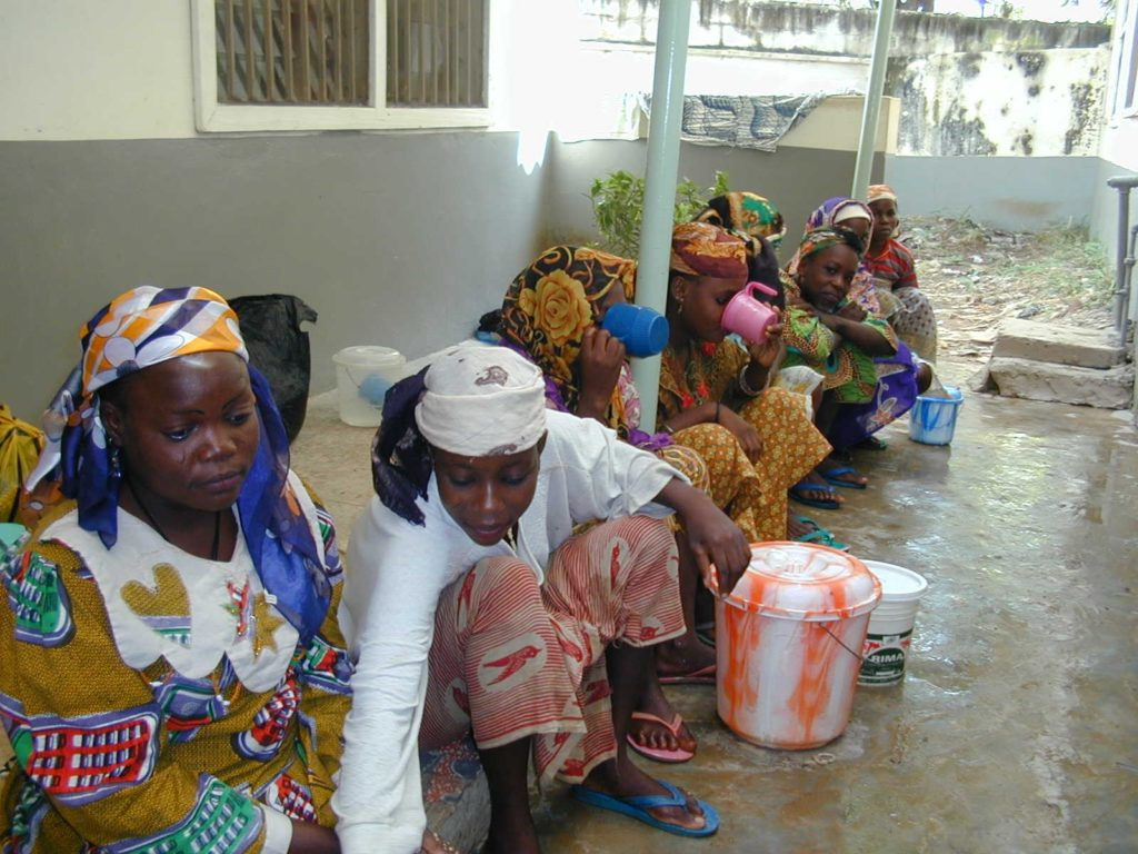 Young women waiting for a fistula operation