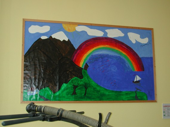 Painting by a traumatised asylum-seeker