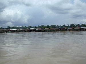 Village on the banks of Ekoli Creek