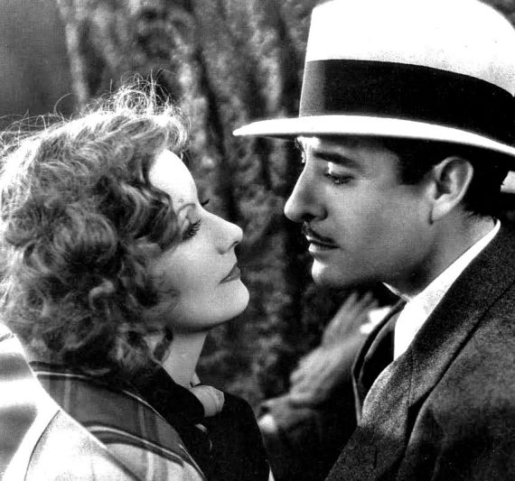 "Greta Garbo + John Gilbert in ""A Woman of Affairs"", 1929"
