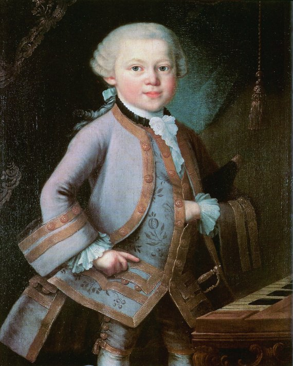 Mozart as a child, 1763 (coll. Mozarteum, Salzburg)