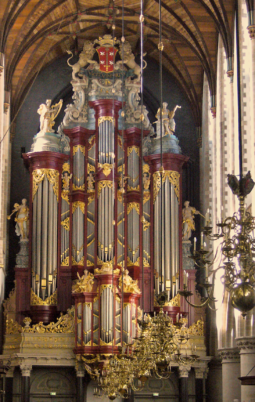 The organ of St. Bavo Church in Haarlem, built by Christian Müller from 1735 to 1738