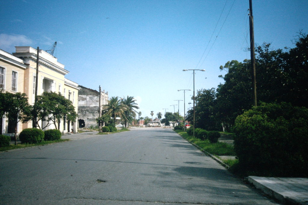 Deserted street in Sukhumi
