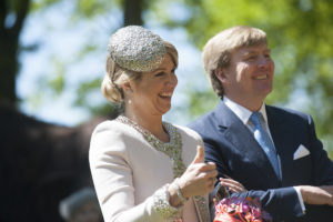The Dutch royal couple visiting the province of Drenthe
