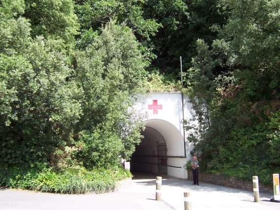 A Jersey war tunnel built by the Germans during WWII and then used as a military hospital