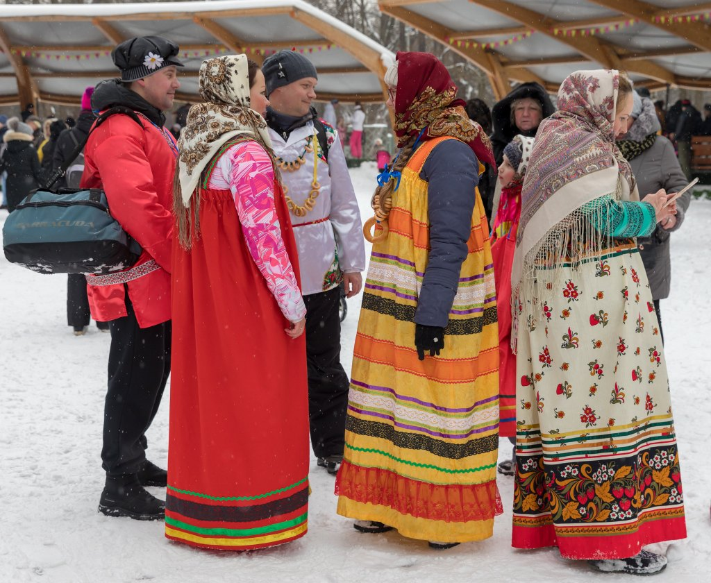 Russians celebrating Maslenitsa or Butter Week, a Slavic holiday which has its origins in the pagan tradition