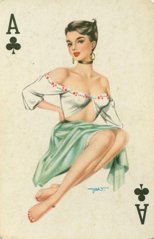 карты с девушками голыми
