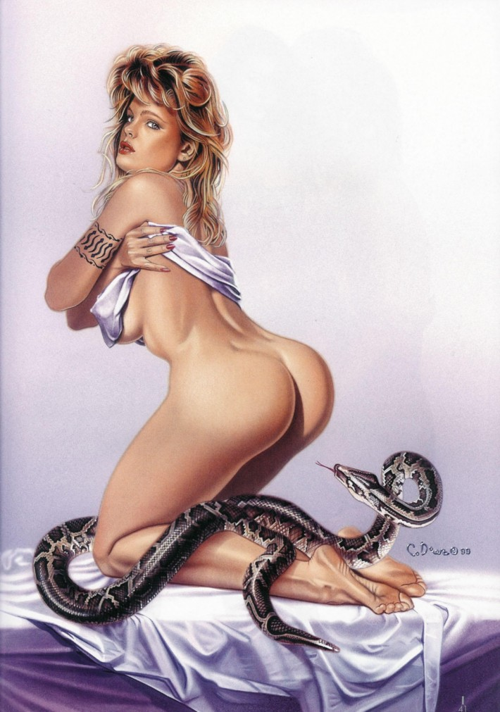 Эротические иллюстрации. Работы художника Карлоса Диеза.