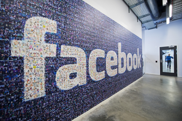 A logo created from pictures of Facebook users in the company's data centre in Sweden.