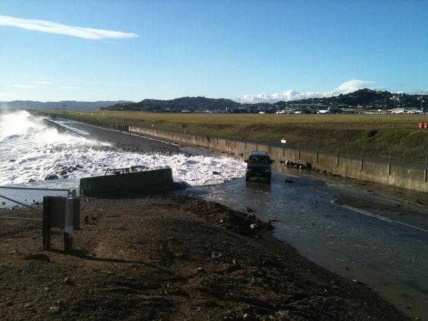 The road near Wellington airport.