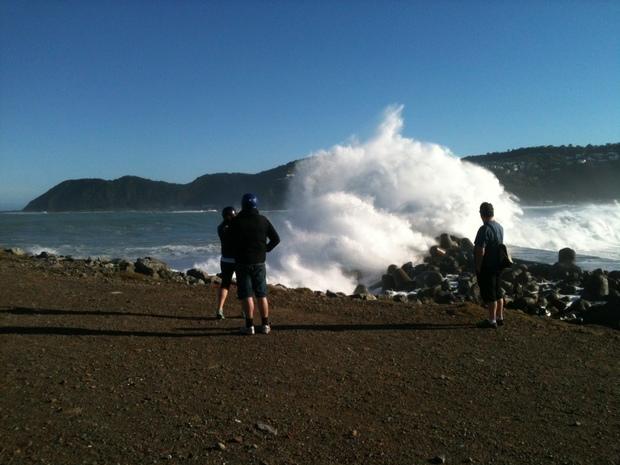 big wave on south coast