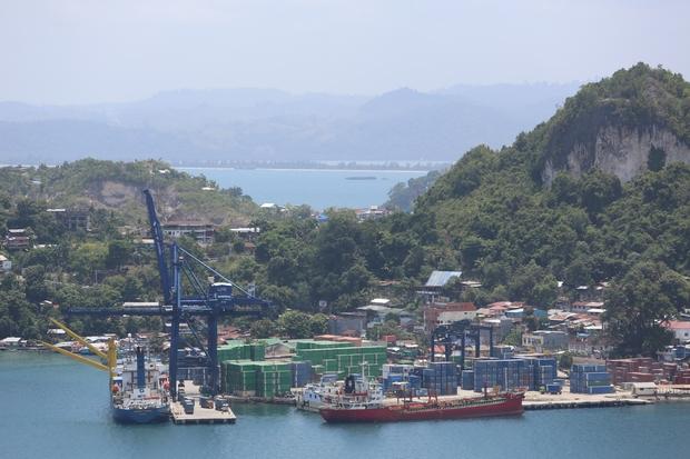 Jayapura port, Papua province, Indonesia.
