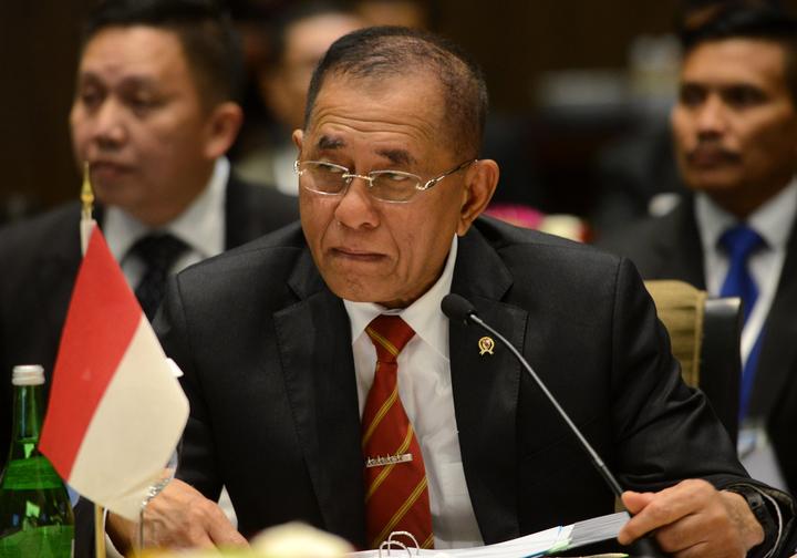 Indonesian Defence Minister Ryamizard Ryacudu.