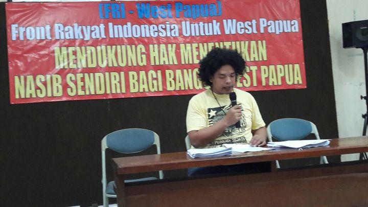 Surya Anta of FRI West Papua