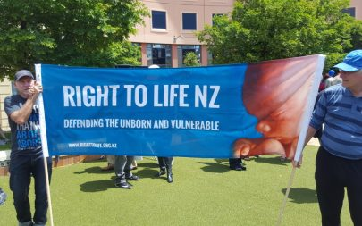 Abortion protesters in Wellington.