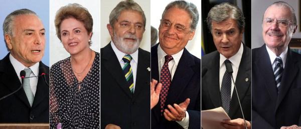 Resultado de imagem para temer ex presidentes