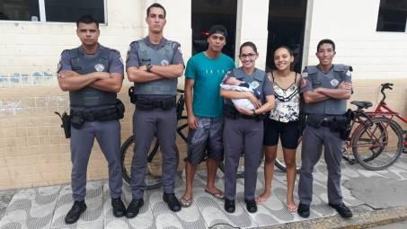 Polícia Militar salva recém nascido em Ubatuba