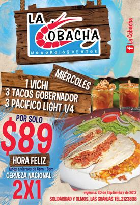 Cada miércoles, super promoción de La Cobacha