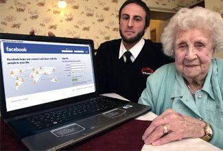 """Aumenta el número de """"abuelitos"""" en Facebook"""
