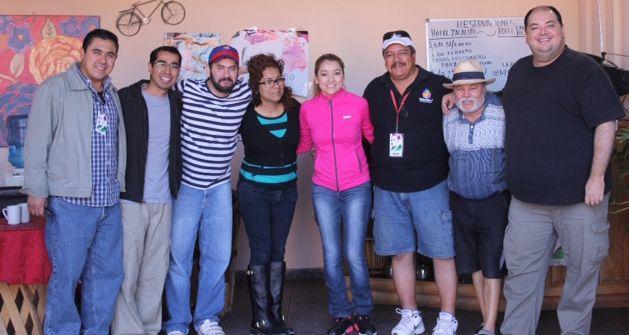Coincidieron colegas de Medios en el Hotel EL JACALITO en Alamos, previa cafeceada con Coricos recién horneados