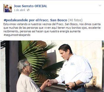 El becario José Serrato.