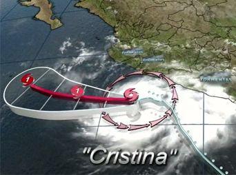 'Cristina' se convierte en huracán categoría uno