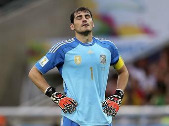 La selección española venía de perder 5-1 con Holanda, tras su derrota con Chile, queda fuera de Brasil 2014