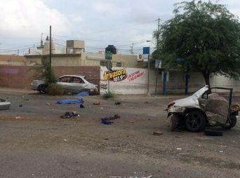 Mueren 4 jóvenes en choque en la colonia Pueblitos