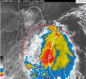 Esta es la trayectoria de la depresión tropical Dolly