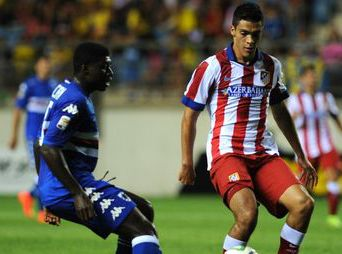 Raúl Jimenéz anota su primer gol con el Atlético de Madrid