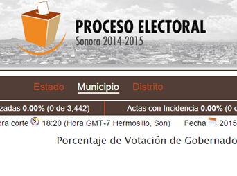 ¿Dónde ver los resultados de la elección en Sonora?