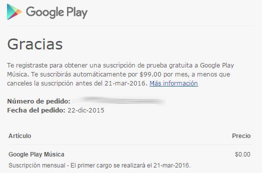 ¡De locura! Google Play Music gratis 3 meses