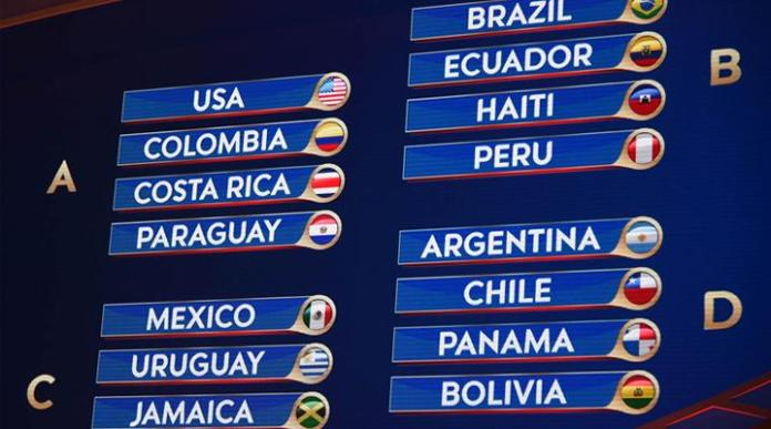 Así quedaron los grupos de la Copa América Centenario
