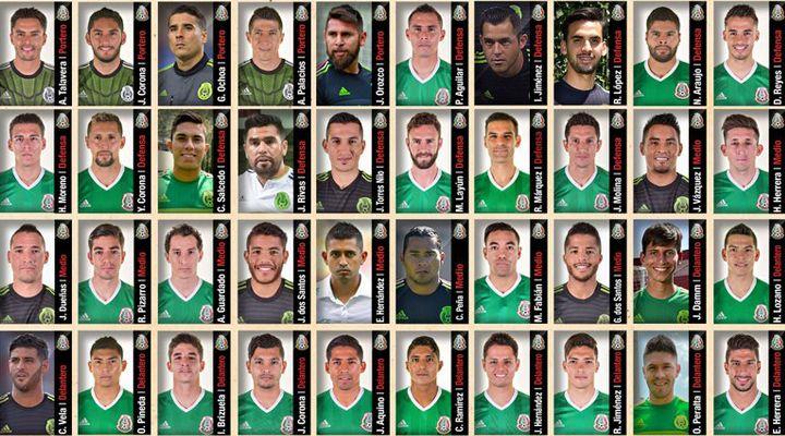 40 convocados de México para la Copa América