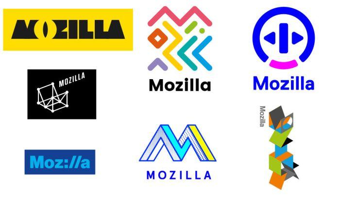 Alguno de estos podría ser el nuevo logo de Mozilla
