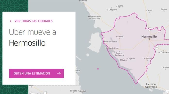 Uber en Hermosillo