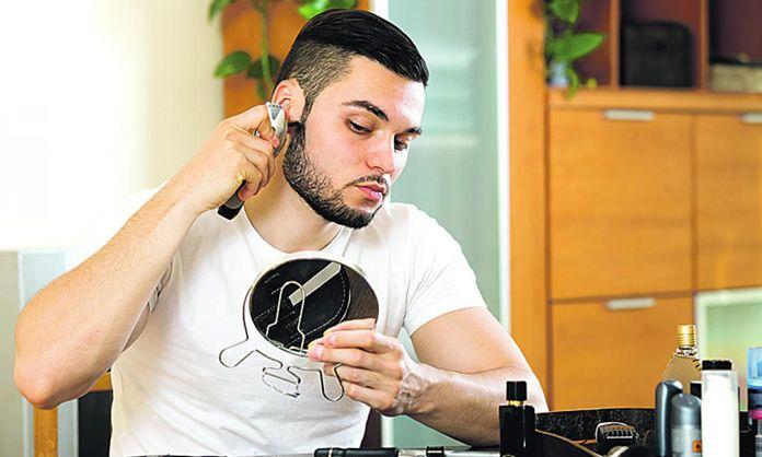 maquillaje para hombres con barba
