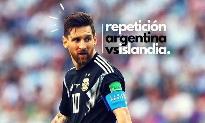repetición del Argentina vs Islandia