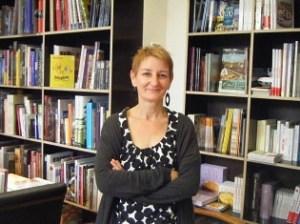 Marie-Pierre Oslawski, responsable de la librairie La Charpente (Douai)