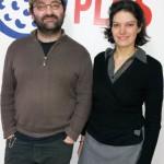 Les conteurs Manuella Yapas et Fabien Delorme - décembre 2015 - Radio Plus