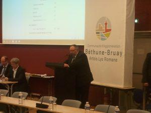 Alain WACHEUX, nouveau Président de la Communauté d'Agglomération Béthune-Bruay Artois-Lys Romane ((c) Radio Plus / Jean-Philippe PLANQUE)