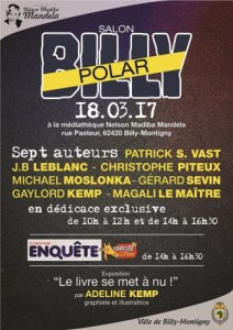 Affiche du 1er salon Billy Polar (médiathèque de Billy-Montigny)